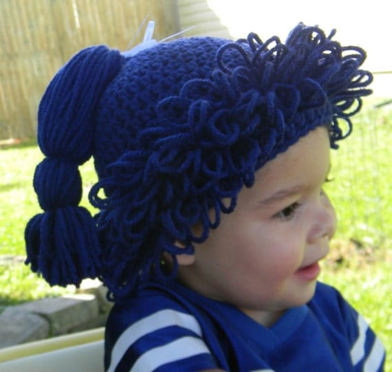 Crochet Hair Indianapolis : Crochet Hair Hat In Any Color Of Your Choice by OurNanasBananas