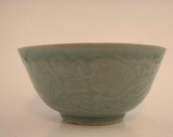 Celadon Bowl and Plates