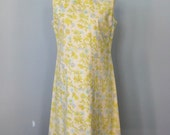 Cotton Dress / Vtg 70s / ...