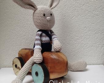 Crochet rabbit, Toy, Rabbit toy,