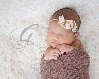 Tie Back Headband and Wrap. Baby Wrap and Headband Newborn Photo Prop Newborn Baby Photography Props Newborn Wrap and Headband
