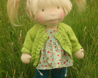 "Waldorf inspired doll called Jessica , 18"" tall"