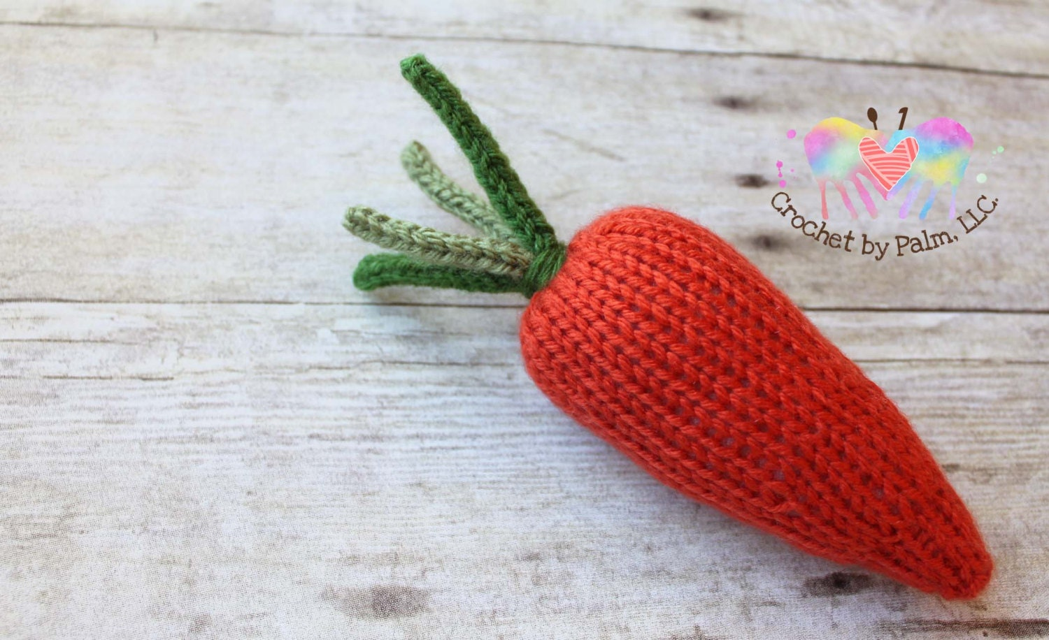PDF Knit Pattern Carrot Toy Vegetable Toy Pretend play