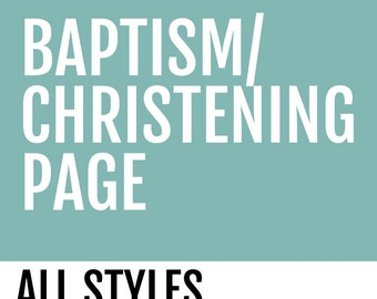 Baptism/Christening Page // All Baby Book Styles