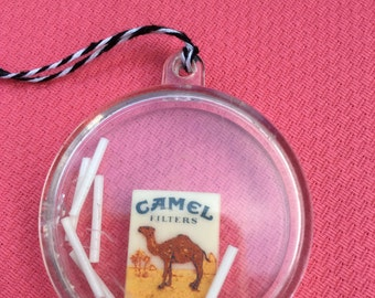 Bad Habit - miniature Camel Cigarettes charm - Camel memorabilia - vintage novelty cigarette collectible - cigarette case - Camel keepsake