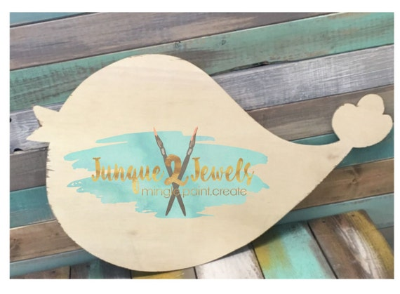 Chick a dee door hanger unfinished cutout by junque jewels