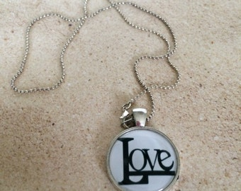 Love Necklace, Valentines Day Gift Love Pendant Necklace, Love Valentines Day Gift, Valentines Day Pendant Necklace, Love Charm