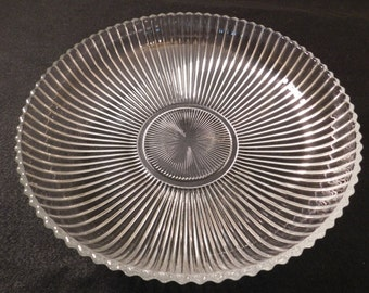 Vintage Heisey Glass Ridgeleigh Floral Bowl - 1930s - from DustyMillerAntiques
