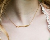 Arrow Necklace, Gold Arrow Necklace, Simple Gold Gold Necklace, Minimal Necklace, Layering Necklace, Dainty Necklace, Boho Necklace
