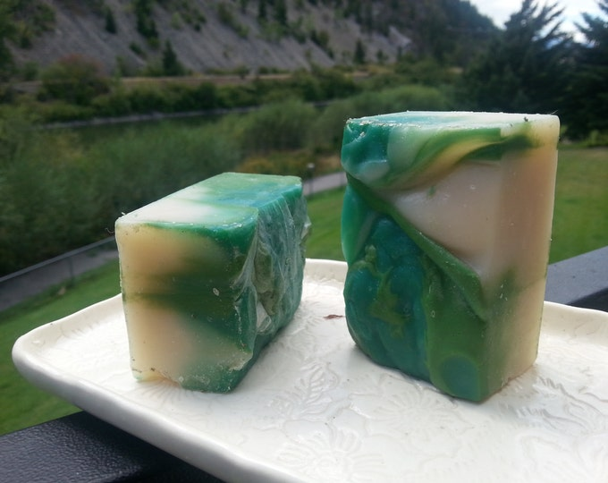 Spearmint and eucalyptus scented soaps