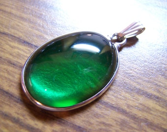 Emerald Green Sea Beach Glass Pendant