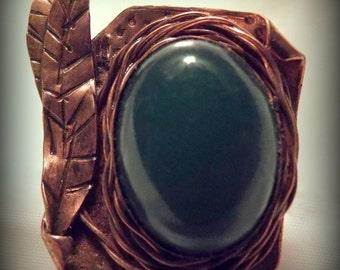 Chrysoprase in Copper