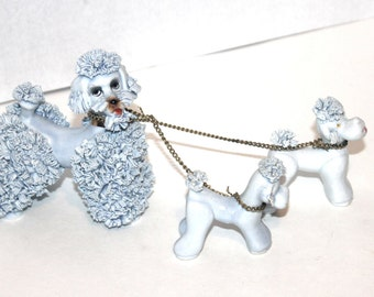 Japan Spaghetti Poodle Dogs, Mama and Babies, Blue Dogs,  Antique Alchemy