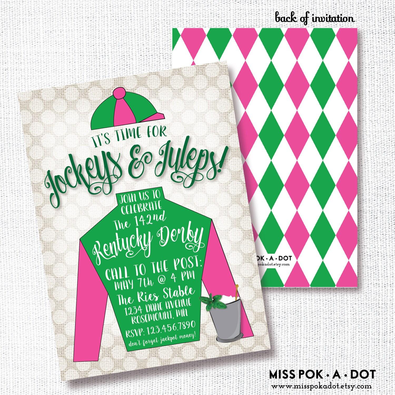 Jockey Derby Party Invitation Printable Horse Racing Party