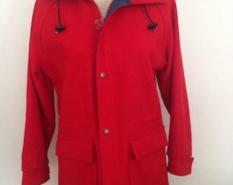 Vintage Woolrich Red Hooded Jacket