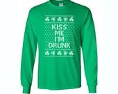 St Patricks Day Shirt. Kiss Me I'm Drunk. Sizes S - 5X
