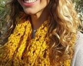 Goldenrod Handmade Crochet Winter Scarf