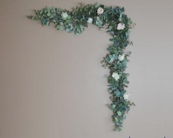 Eucalyptus Garland, Wedding Garland, Backdrop, Boho, Wedding, Wedding Decor, Silk Flower Backdrop, Wedding Backdrop, Wedding Flowers, Party