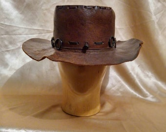 Vintage Southern Rock Style Leather Hat