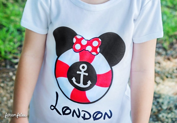 Disney Cruise Shirt Mouse Ears Personalized Name T Shirt Girls Boys Tee Baby Onesie High Quality Disney Lifesaver Cruise Mickey Minnie Shirt