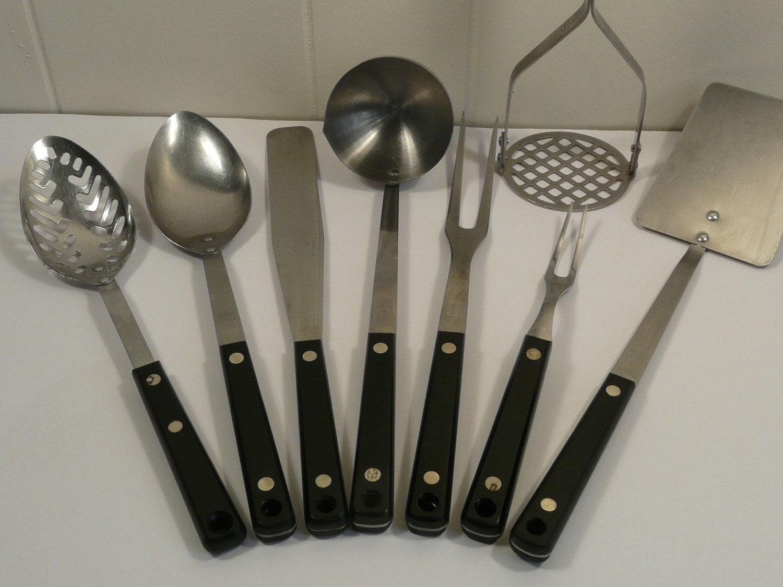 Flint Ekco Vintage Kitchen Utensils Set Of Eight
