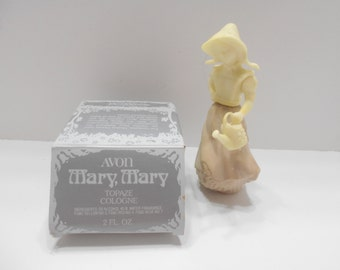 Vintage Avon Mary, Mary Cologne Decanter (13) Topaze Cologne