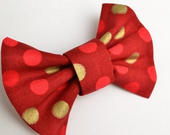 Christmas Bow Tie - Bow Ties - Clip on Ties - Neck Ties - Infant - Baby - Toddler - Wedding - Ties - Red Bow Ties - Church - Xmas