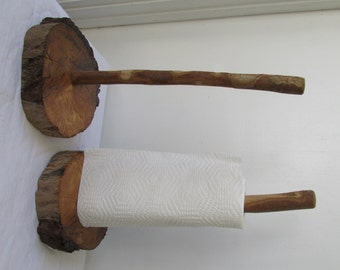 Handmade Driftwood Paper Towel Holder, Shabby Chic Rustic Home Decor