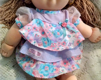 1991  Collectible, Cabbage Patch Doll, With Squeaker Box, 2005 Dress & Purple Shoes, Signed