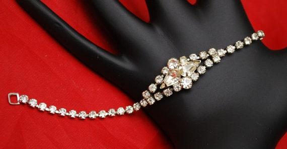 Rhinestone Bracelet Clear Crystal silver Tennis Bracelet