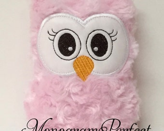 Ready to Ship---Light Pink Plush Mini Owl Rattle -NOT PERSONALIZED