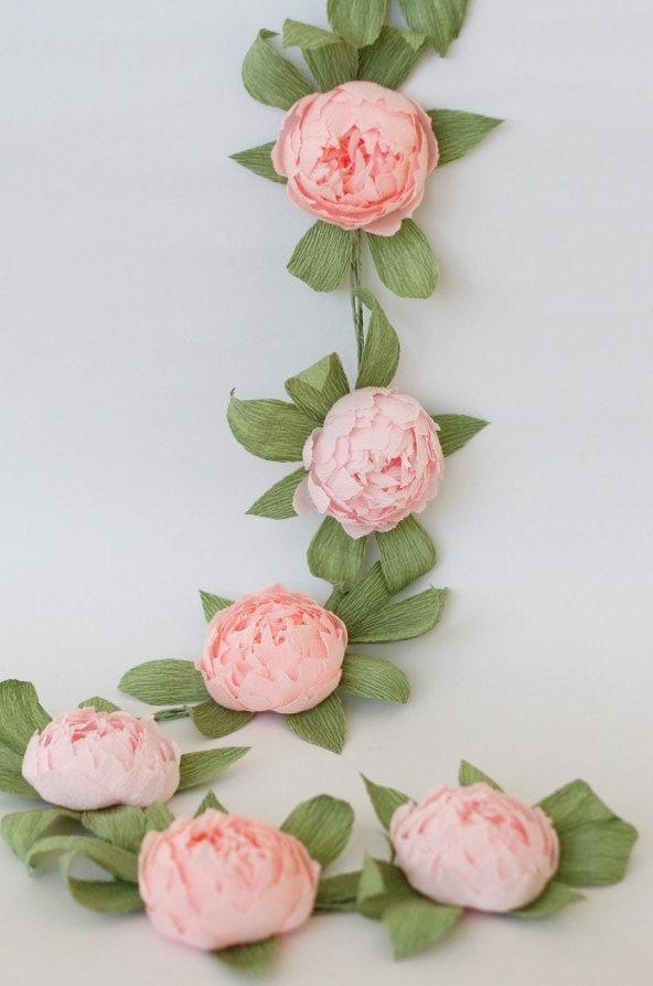 Bridal Garland Wedding Garland Paper Flower Garland Peonies