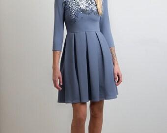 Graphics - Skater dress / Autumn womens dress / Printed dress