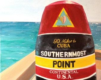 Southernmost Bouy 11 x 14 Matte Print Key West Florida Southernmost Point