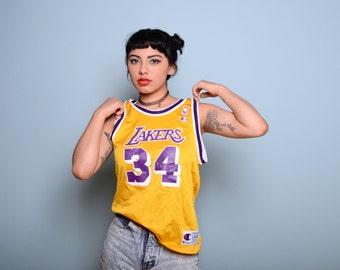 Vintage LA Lakers Champion Jersey Sz S