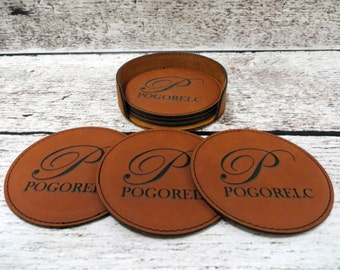 Personalized Coasters, House Warming Gift, Fathers Day Gift, Mothers Day Gift, Bar Ware