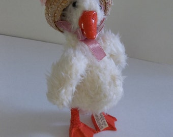 Numbered Collectible, duck, vintage animal, kimbearlys original, cottage decor, numbered collectible,vintage toy, collectable