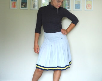 Vintage Fred Perry Skirt with Pleats and Striped Hem