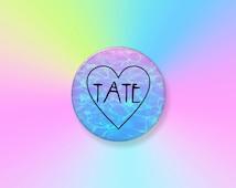 "Tate Love 2.25"" Pinback Art Button Badge -- Tate Langdon, AHS, American Horror Story, Murder House, Heart, Tumblr, Grunge, Pastel, TV Button"