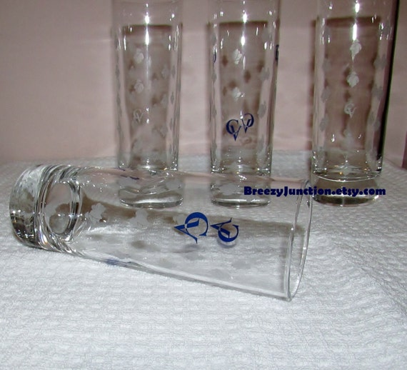 glasses cv logo courvoisier tall drink glasses made in