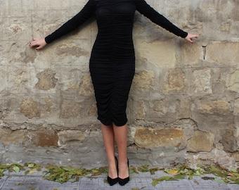 NEW SS16 Black bodycon dress, Midi dress, Bodycon dress, Little black dress, off shoulders Dress, Party dress, Evening dress, Prom dress