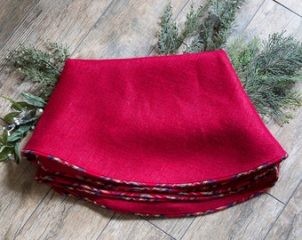 Christmas Tree Skirt Burlap