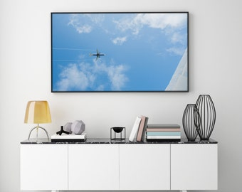 Plane / Travel / Blue / Sky / Clouds / Digital Photography / Instant Download / Gift for Traveller / Wanderlust / Travel / Digital Image /