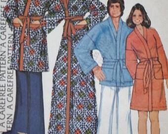 Mens Womens Robe - Vintage Sewing Pattern- McCalls 3738-Size Medium