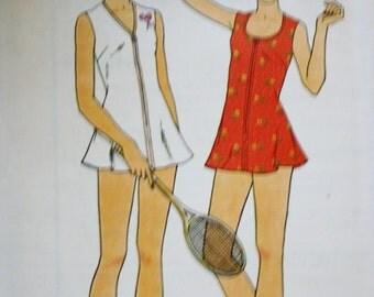 Tennis Dress /Butterick 3644/ Vintage Sewing Pattern /Bust 30.5