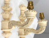 Vintage Wood Wall Sconce Decorative Light Candle Holder Wall Mount Shabby Chic Electric Wall Lighting