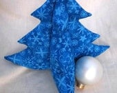 Bright Blue Tree - Sparkly Blue Snowflakes - L