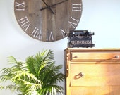 """39.5"""" Rustic Weathered Salvaged Wood Clock - Very Large Clock"""