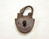 Antique Brass Small Padlock - Archaeological Finds - a19