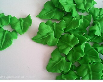 Royal Icing Leaves, Wedding, Christening, Birthday - 24 pieces